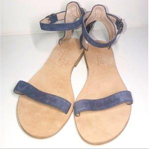 CORNETTI xRevolve Blue Suede Ankle Strap Sandals